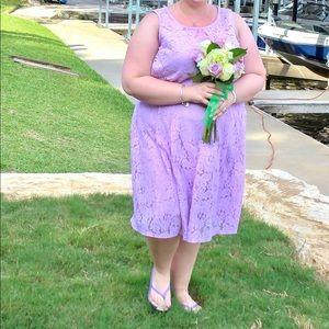 Lane Bryant purple lace dress